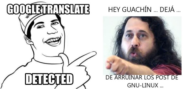 Google Translator- Stallman